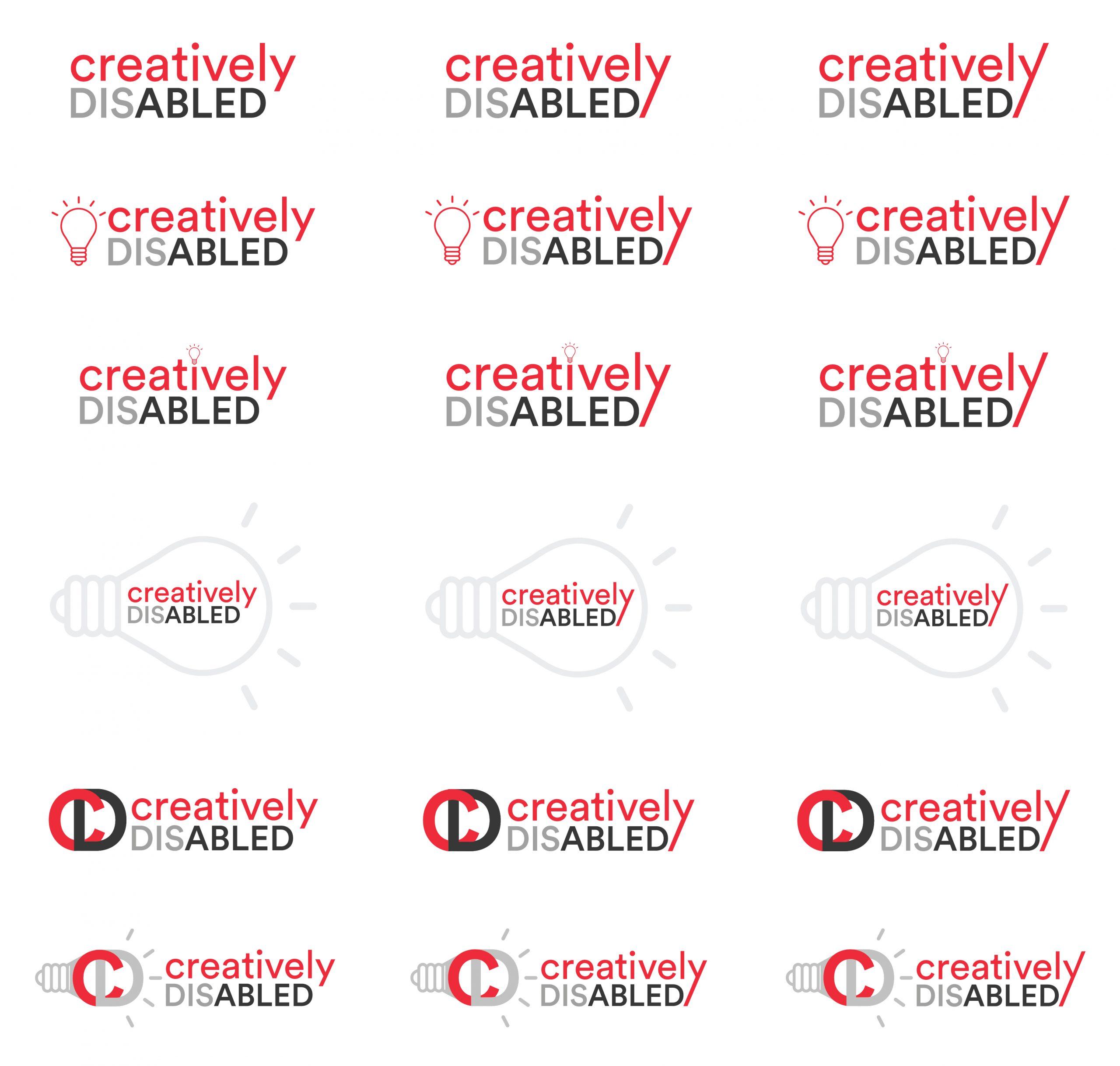 Logo design ideas for creatively disabled program